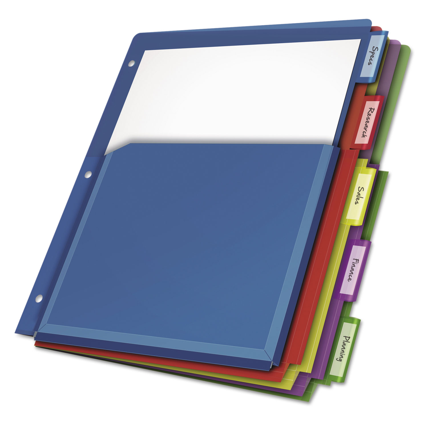 Poly Expanding Pocket Index Dividers By Cardinal® CRD84012