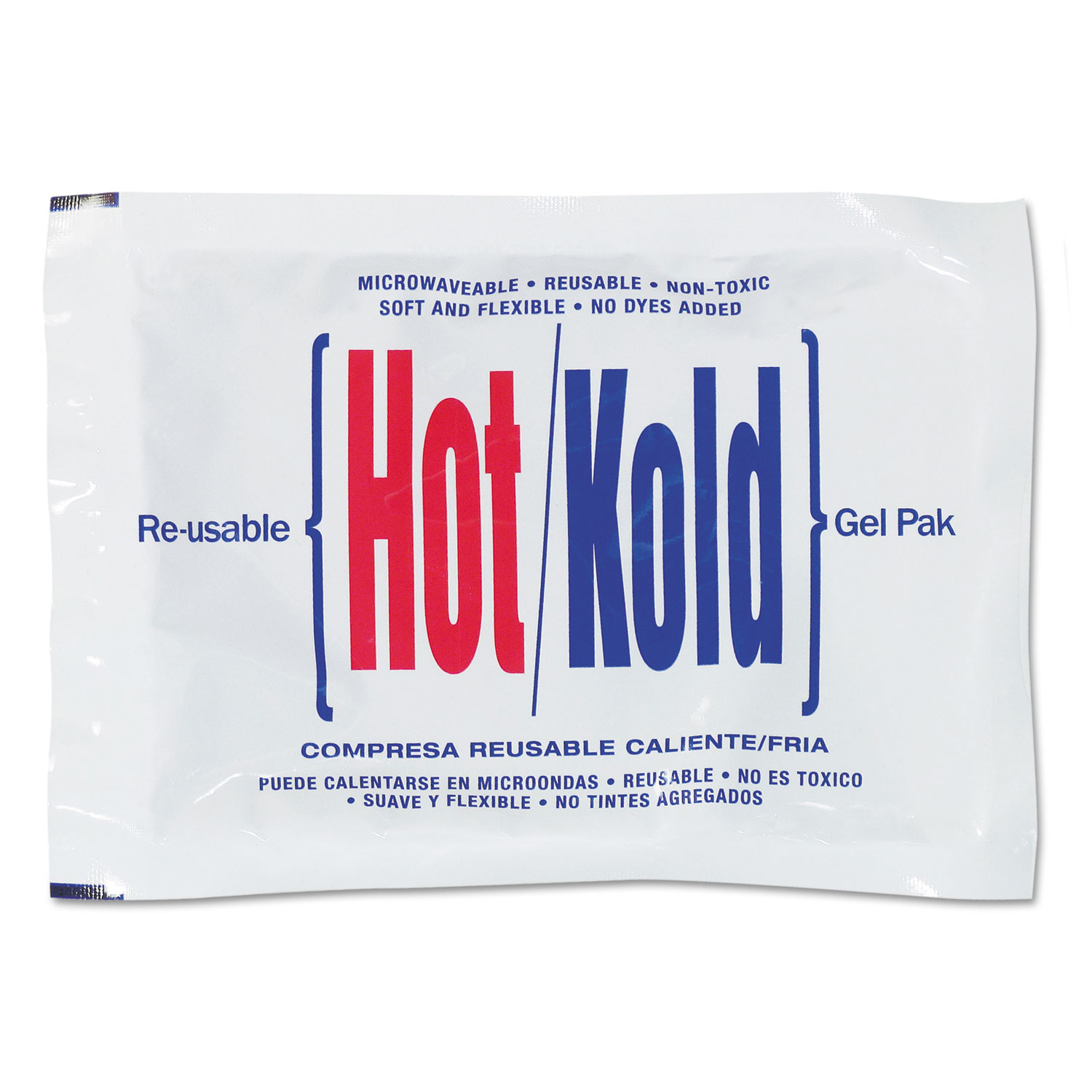 Reusable Hot/Cold Pack, 8.63 Long, White