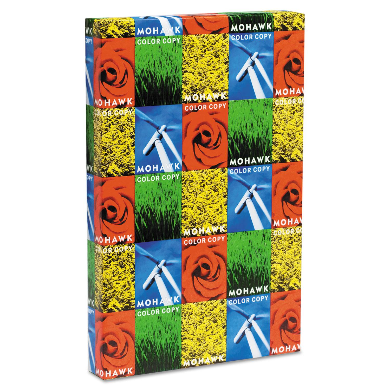 Color Copy Gloss Paper and Cover Stock, 94 Bright, 32lb, 11 x 17, Pure White, 500/Ream