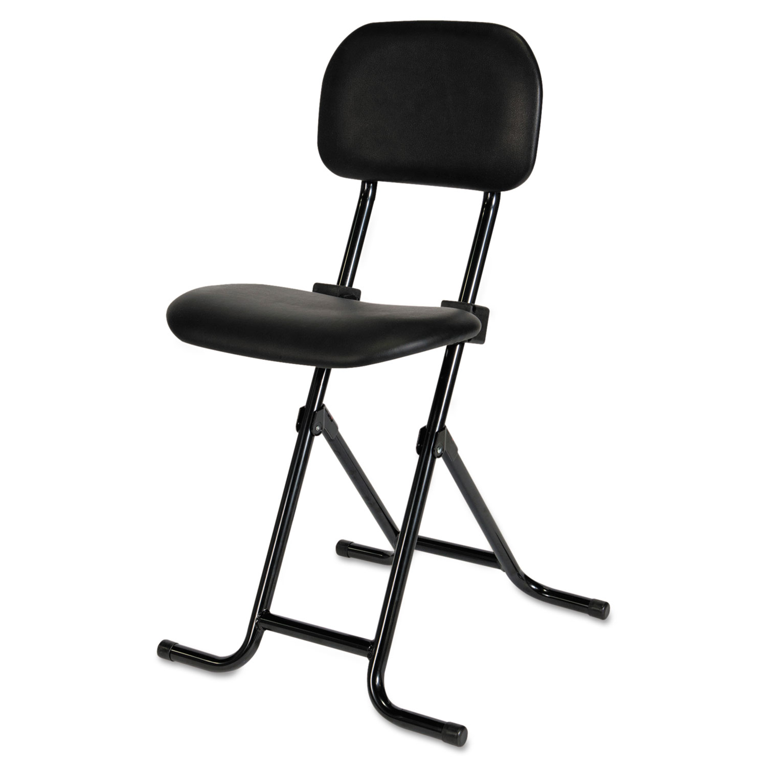 Fine Alera Il Series Height Adjustable Folding Stool 27 5 Seat Height Supports Up To 300 Lbs Black Seat Back Black Base Cjindustries Chair Design For Home Cjindustriesco