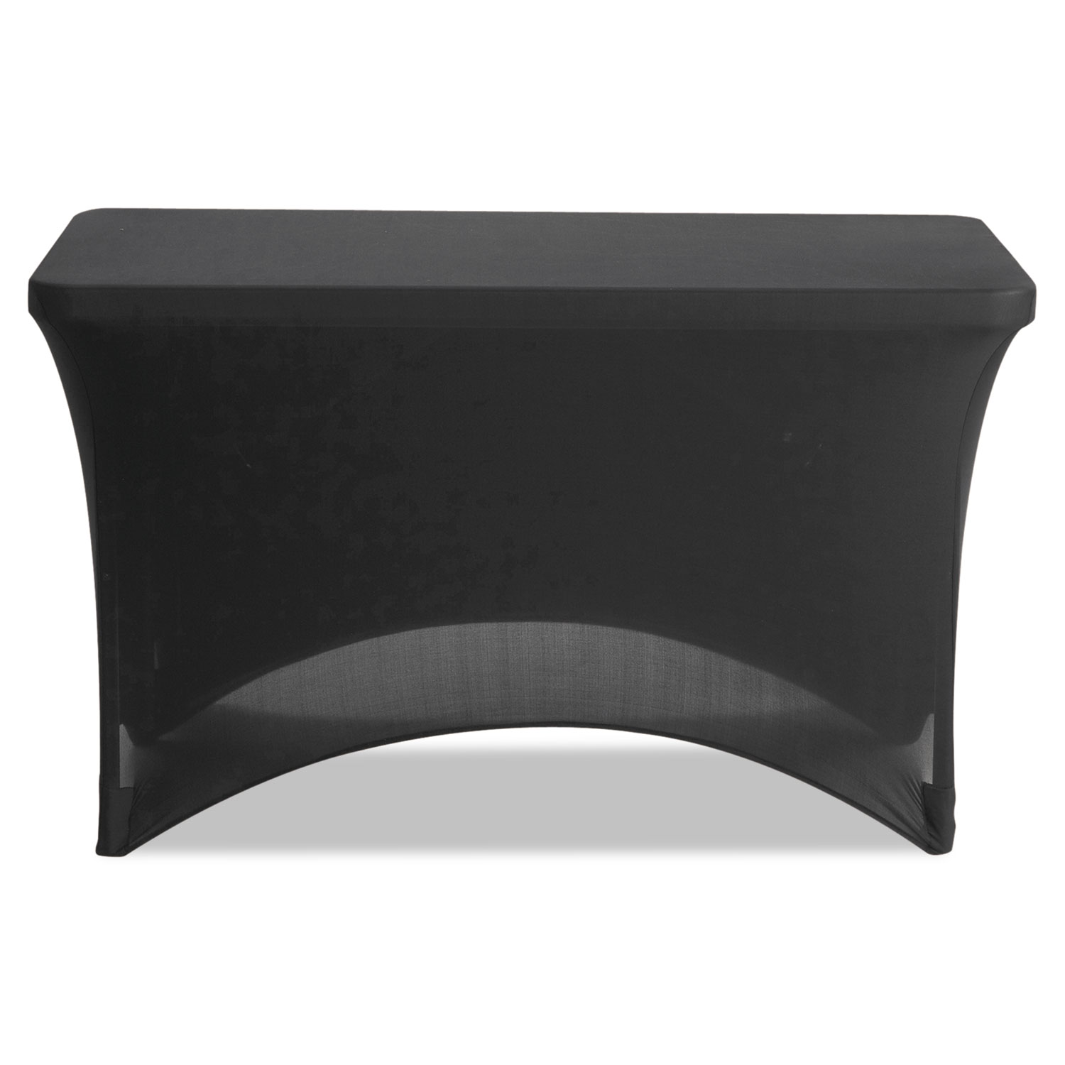 """Stretch-Fabric Table Cover, Polyester/Spandex, 24"""" x 48"""", Black"""