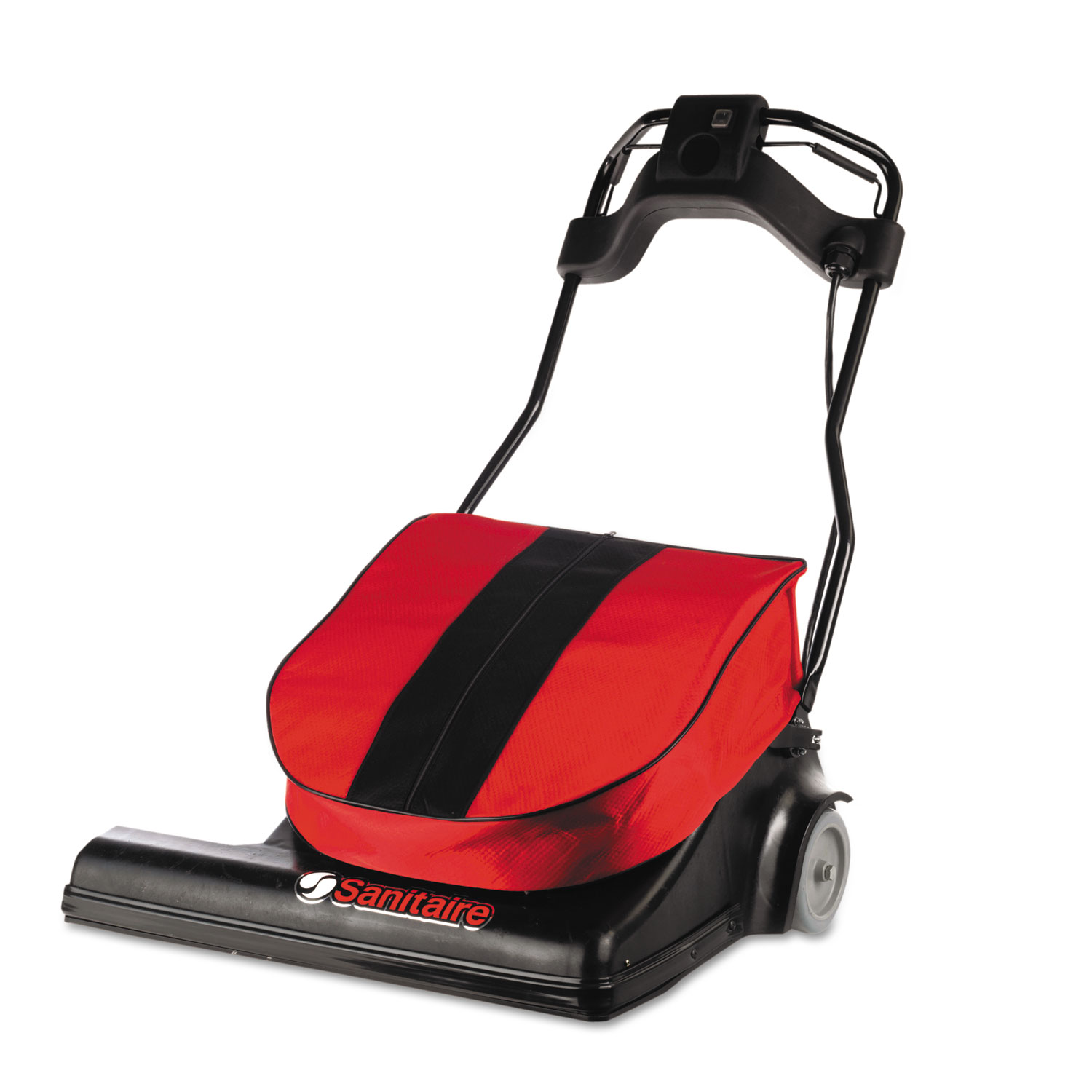 """SPAN Wide Area Vacuum, 28"""" Cleaning Path, 74 lbs, Red"""