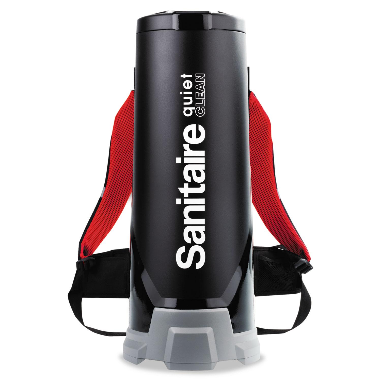 TRANSPORT QuietClean HEPA Backpack Vacuum, 10 qt, Black