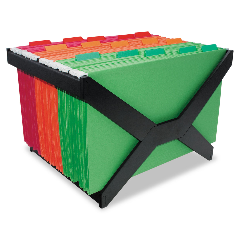 Letter/Legal Hanging File Rack, Plastic, 16 x 12 x 10 3/4, Black