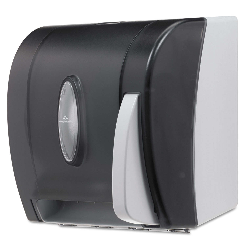 Hygienic Push-Paddle Roll Towel Dispenser, Translucent Smoke - Reparto