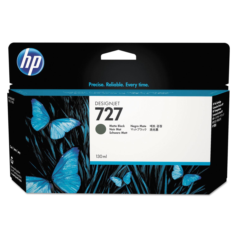 HP 727, B3P22A Matte Black Original Ink Cartridge, 130 mL