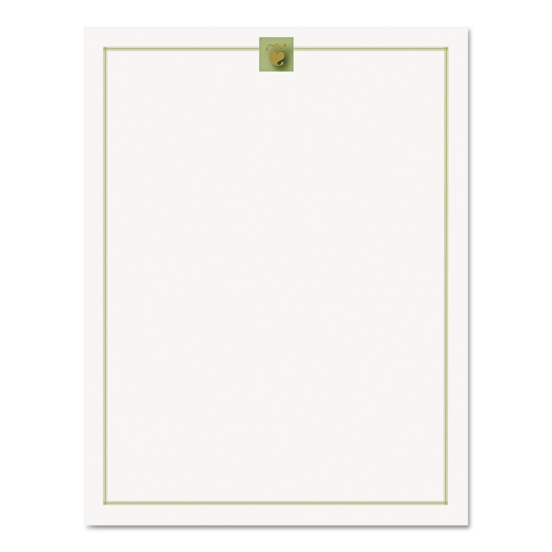 Design Suite Paper, 24 lbs., Gold Leaf, 8 1/2 x 11, Gold, 100/Pack