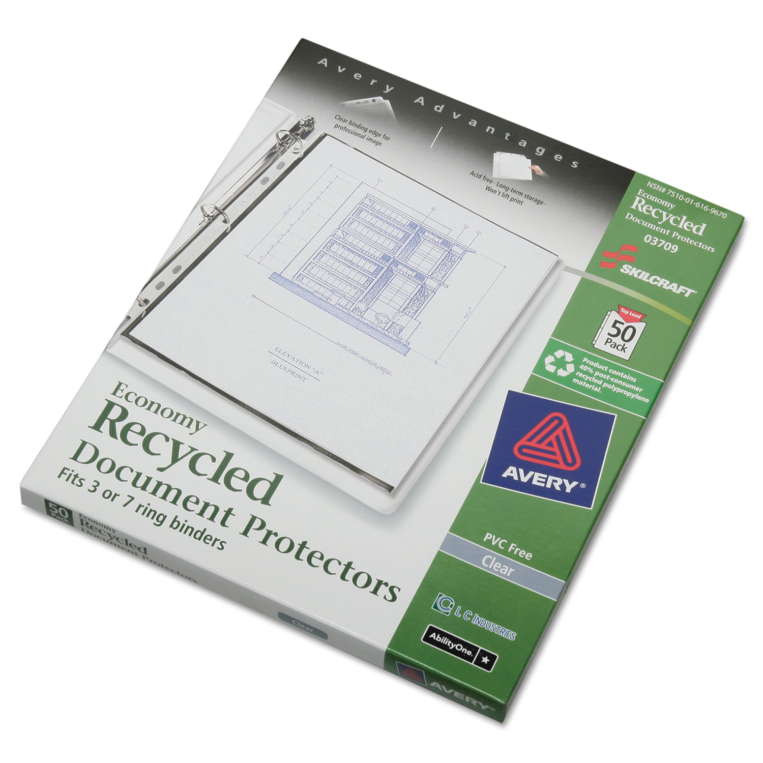 7510016169670 Document Protector 8 1 2 X 11 7 Hole Punch