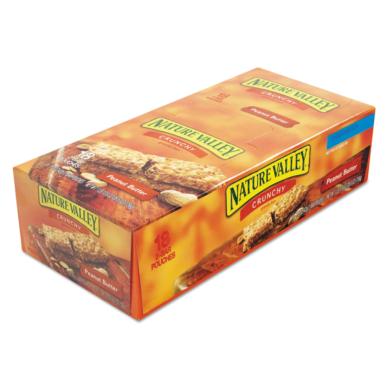 Granola Bars, Peanut Butter Cereal, 1 5oz Bar, 18/Box