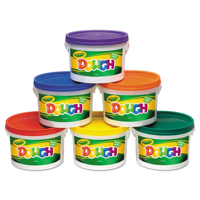 Modeling Dough Bucket, 3 lbs, Assorted, 6 Buckets/Set