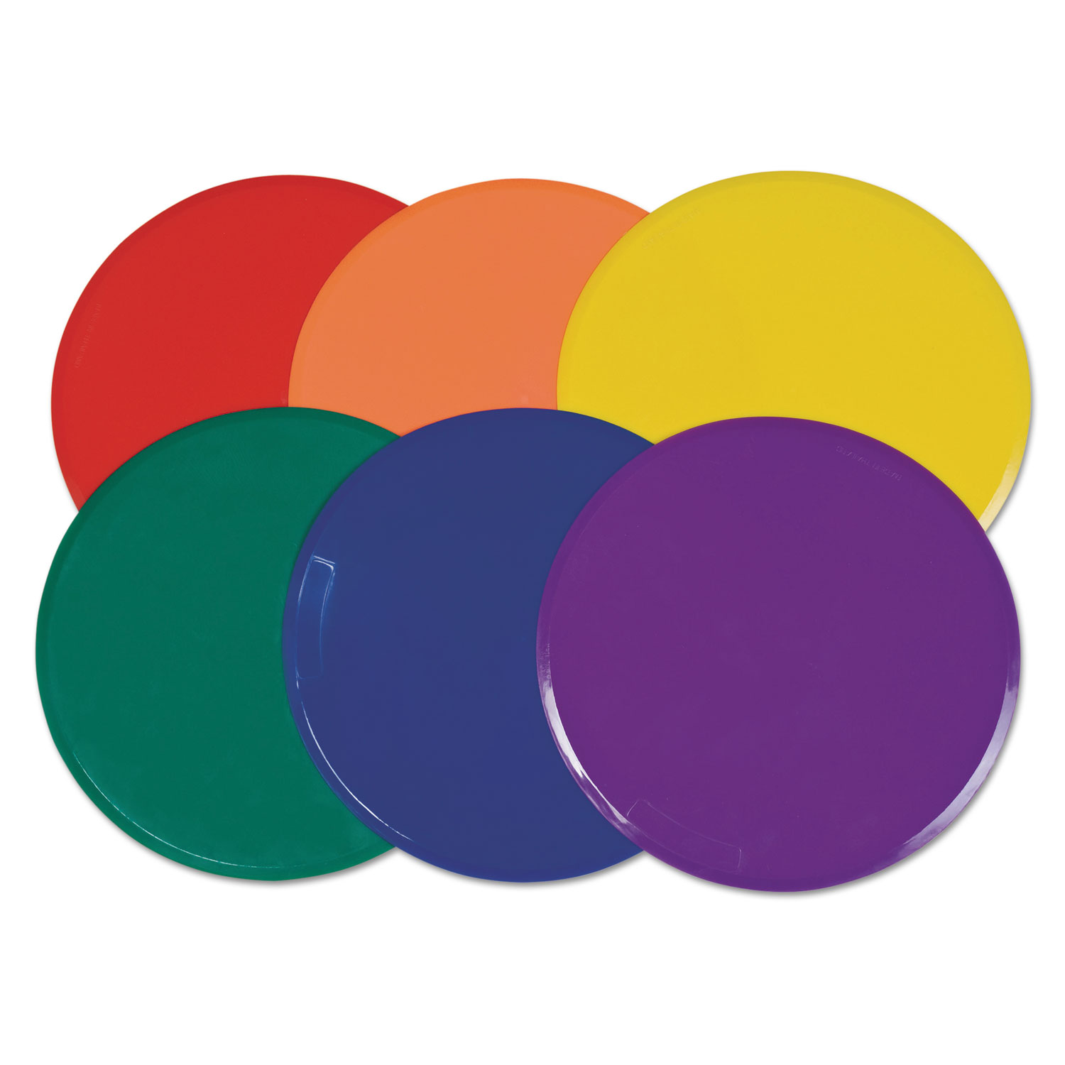 Extra Large Poly Marker Set, 12 Diameter, Assorted Colors, 6 Spots/Set