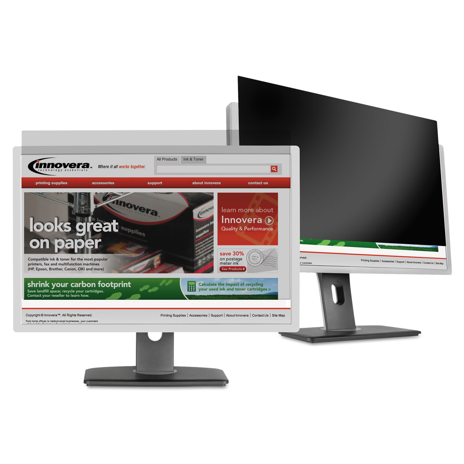 """Blackout Privacy Filter for 18.5"""" Widescreen LCD Monitor, 16:9 Aspect Ratio"""