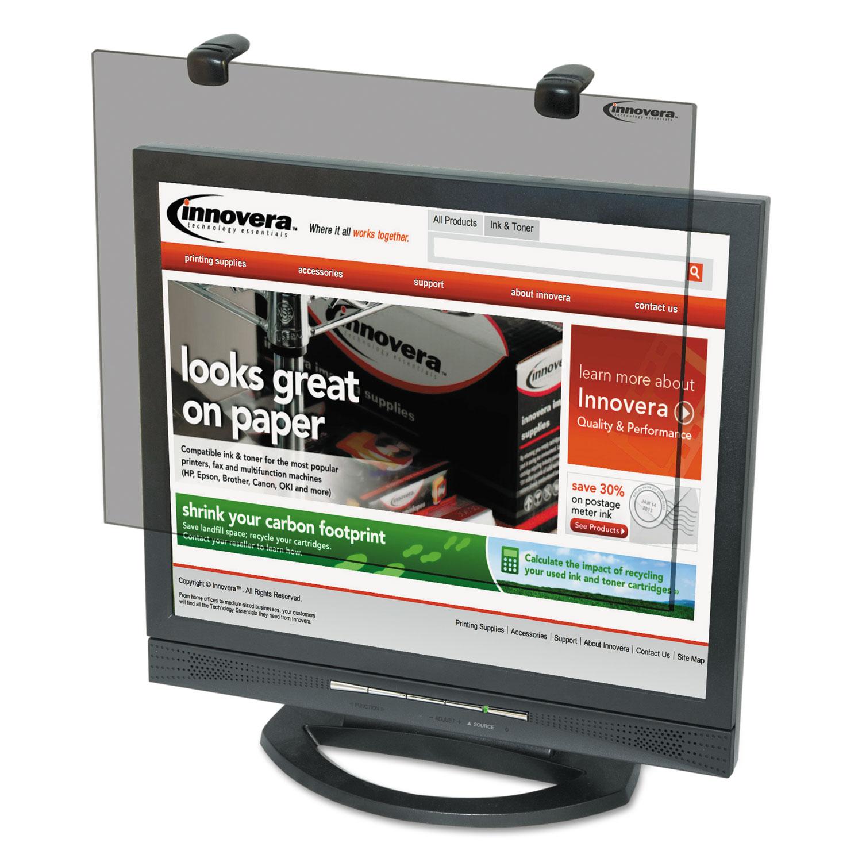 """Protective Antiglare LCD Monitor Filter, Fits 17""""-18"""" LCD Monitors"""