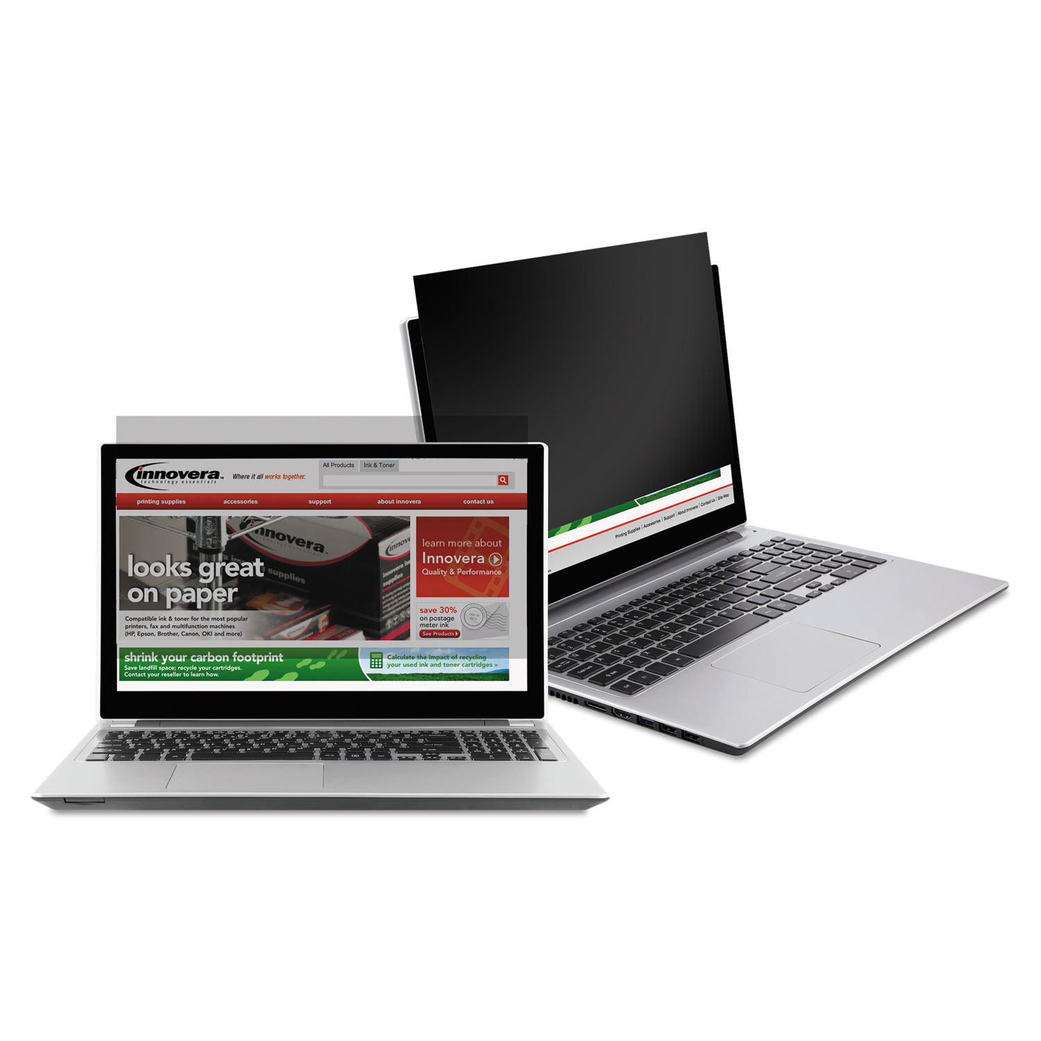 """Blackout Privacy Filter for 14"""" Widescreen Notebook, 16:9 Aspect Ratio"""