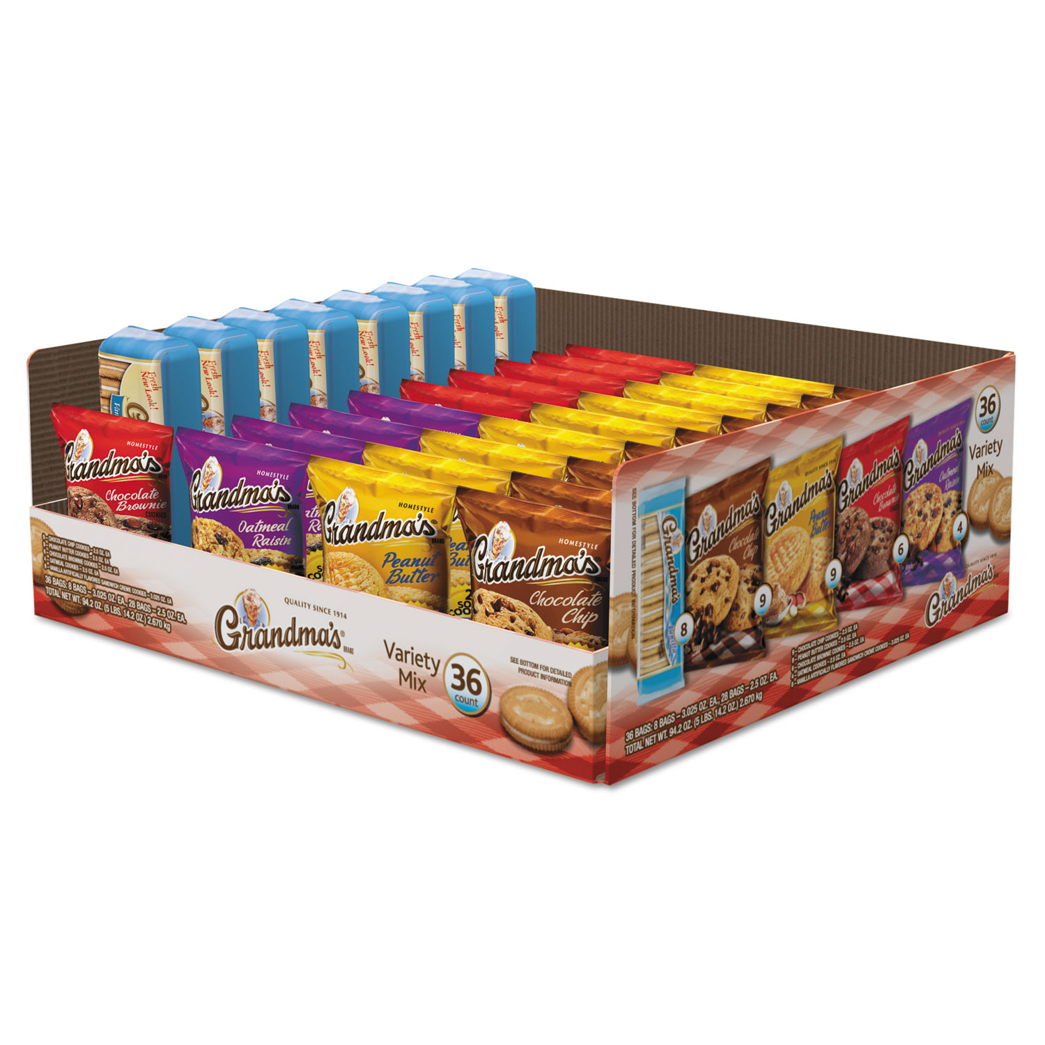 Cookies Variety Tray 36 Count, 2.5 oz Packs