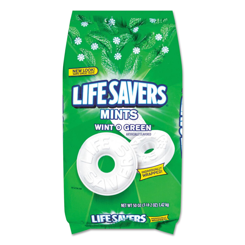 Hard Candy Mints, Wint-O-Green, 50 oz Bag