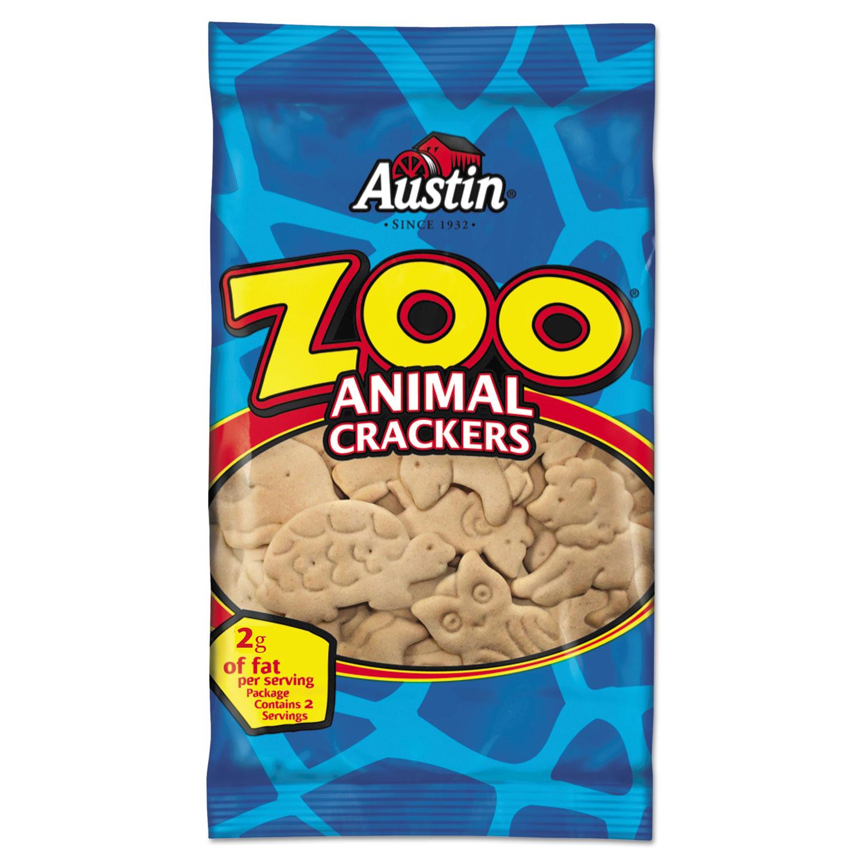 Zoo Animal Crackers, Original, 2 oz Pack, 80/Carton