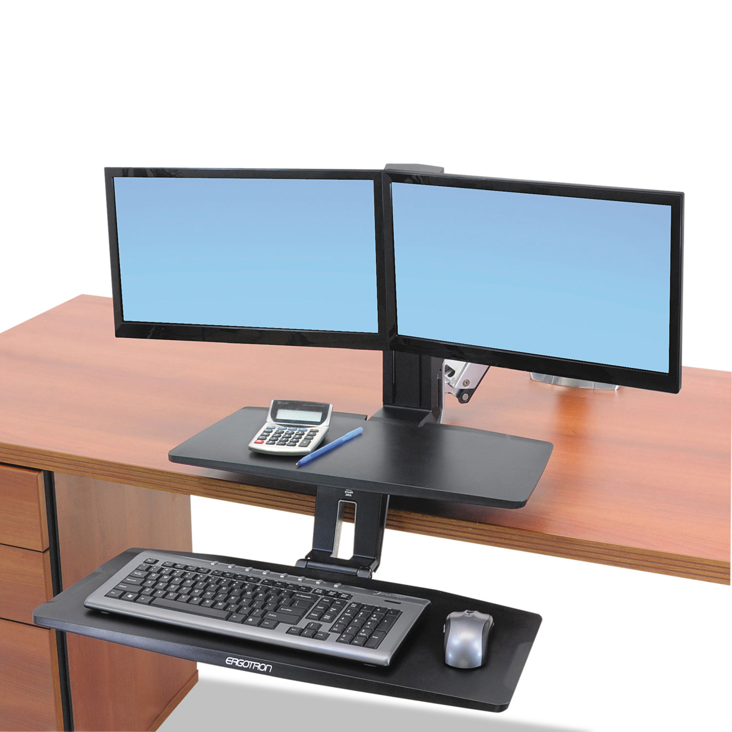 Workfit A Sit Stand Workstation W Suspended Keyboard By