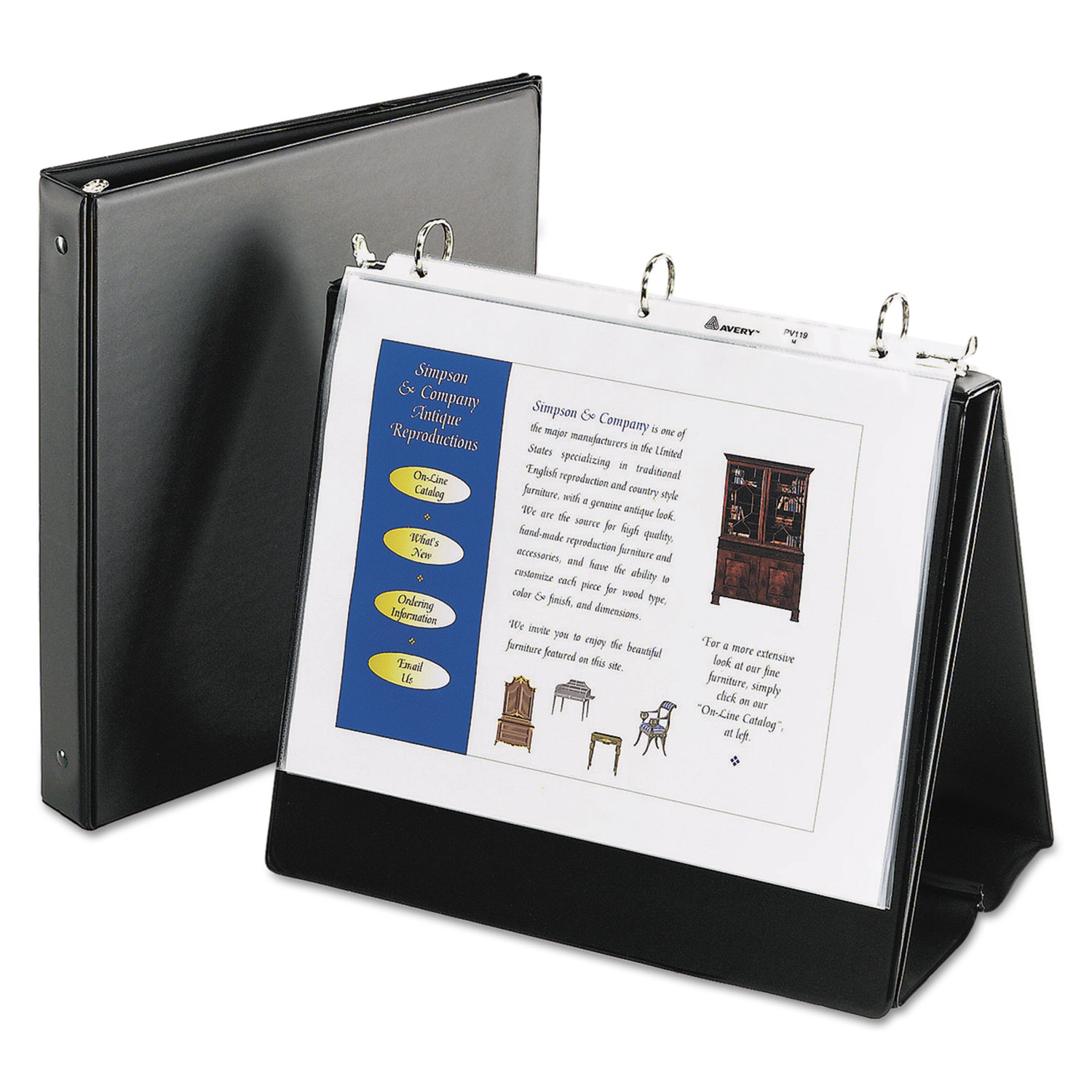 easel presentation durable binder by avery ave12880