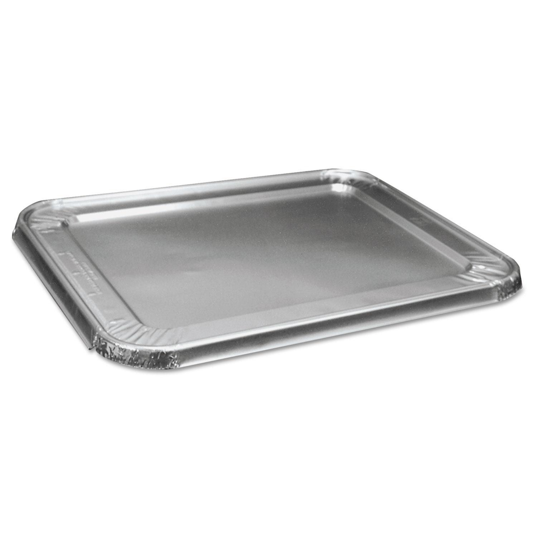 Half Size Aluminum Steam Table Pan Lid, Deep, 100/Carton
