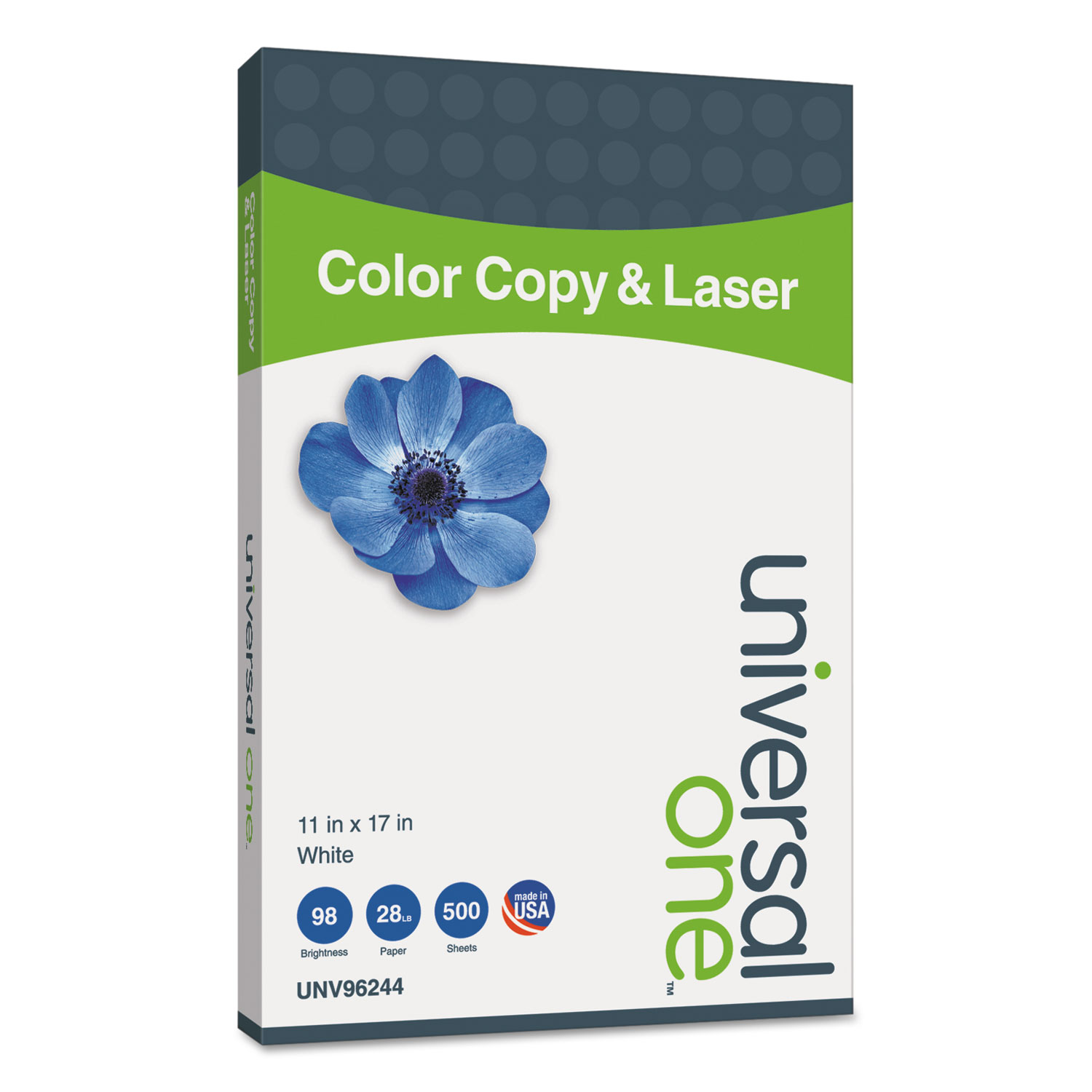 Deluxe Color Copy & Laser Paper, 98 Bright, 28lb, 11 X 17, White, 500/Ream