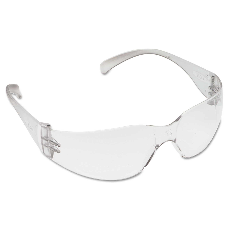 Virtua Protective Eyewear, Clear Frame/Clear Lens, Anti-Fog Hard-Coat