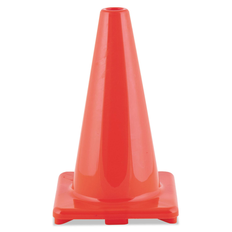 """Hi-Visibility Vinyl Cones, 18"""" Tall, Orange"""