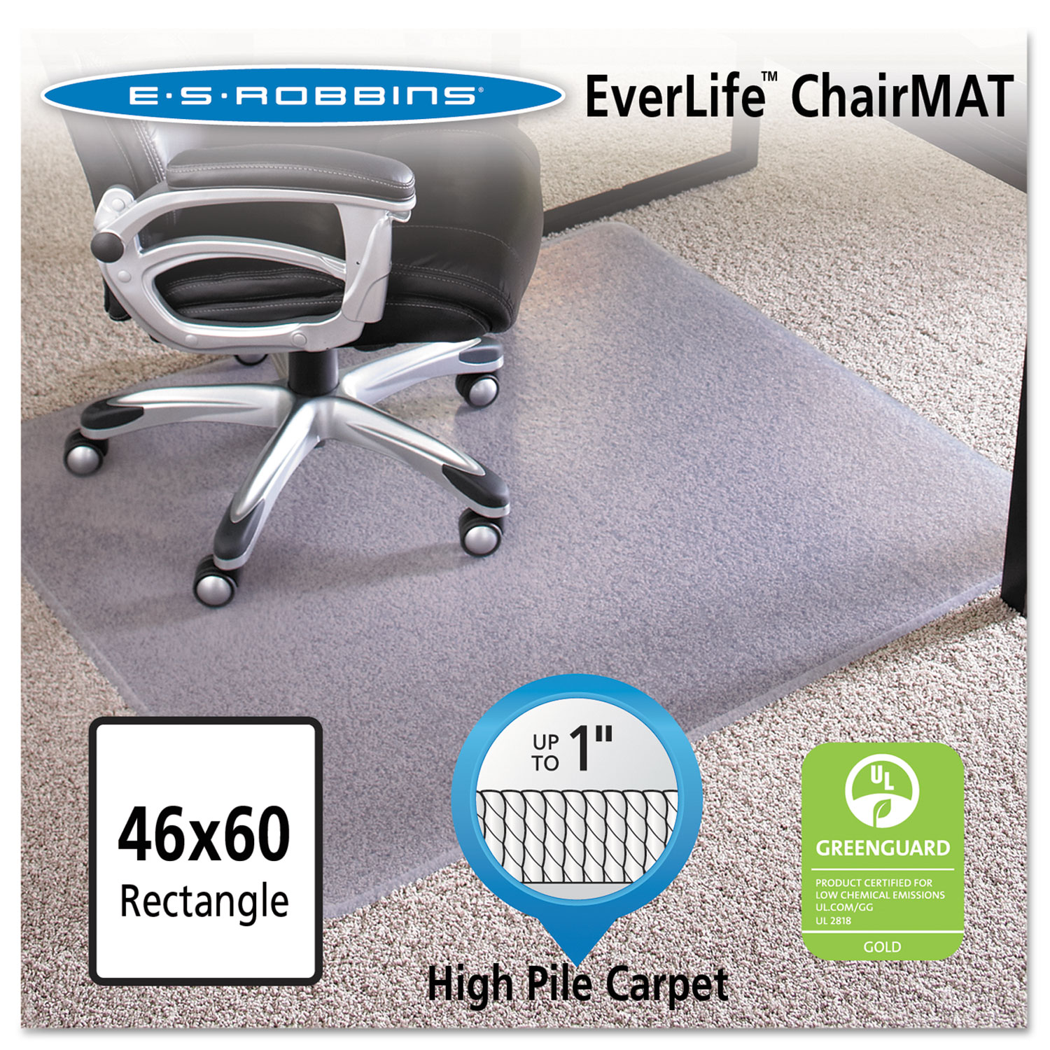 46x60 rectangle chair mat by es robbinsa esr124377