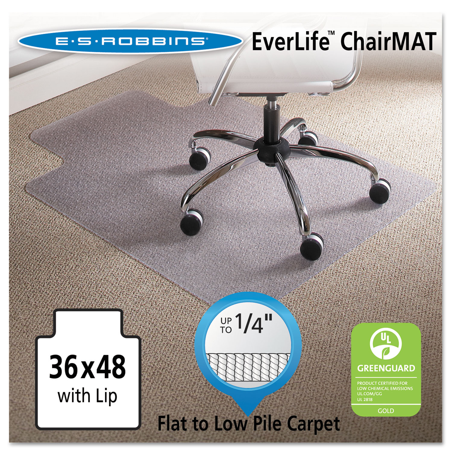 36 x 48 lip chair mat by es robbinsa esr120023 ontimesupplies com