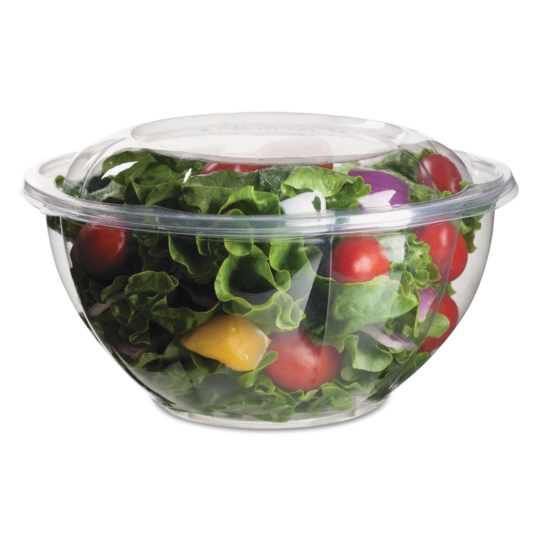 Renewable and Compostable Salad Bowls with Lids - 32 oz, 50/Pack, 3 Packs/Carton ECOEPSB32