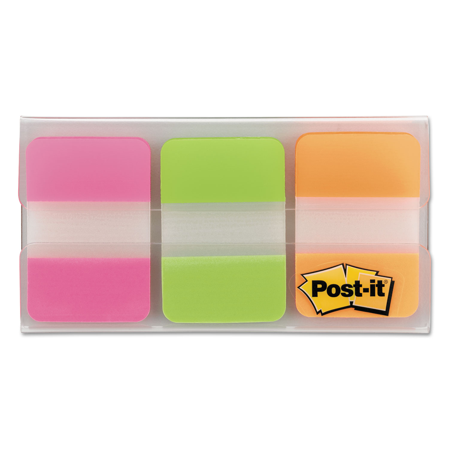"""1"""" Tabs, 1/5-Cut Tabs, Assorted Brights, 1"""" Wide, 66/Pack"""