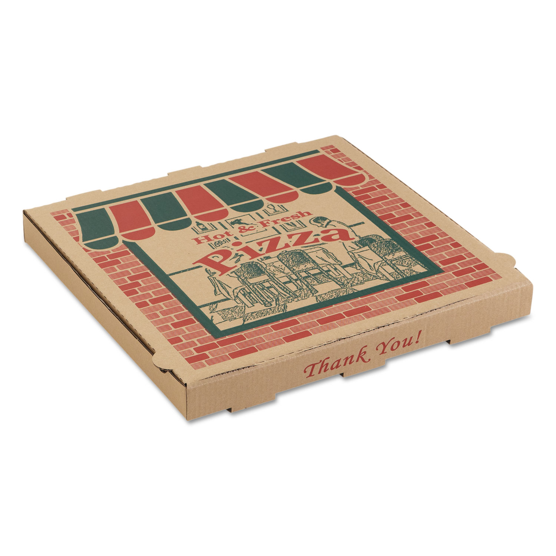 Corrugated Pizza Boxes, Kraft, 18 x 18, 50/Carton