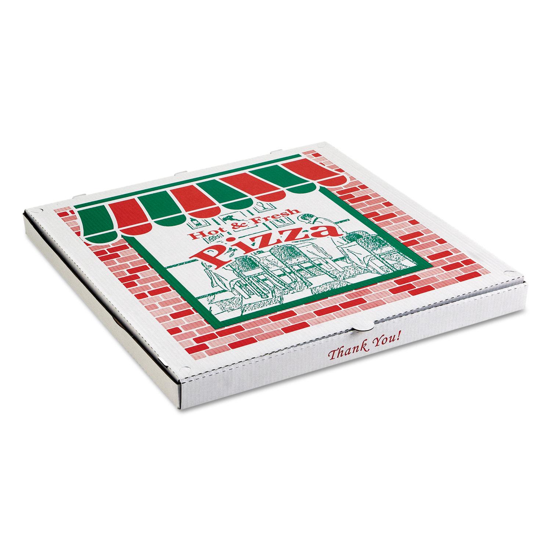 Corrugated Pizza Boxes, Brown/White, 28 x 28, 25/Carton