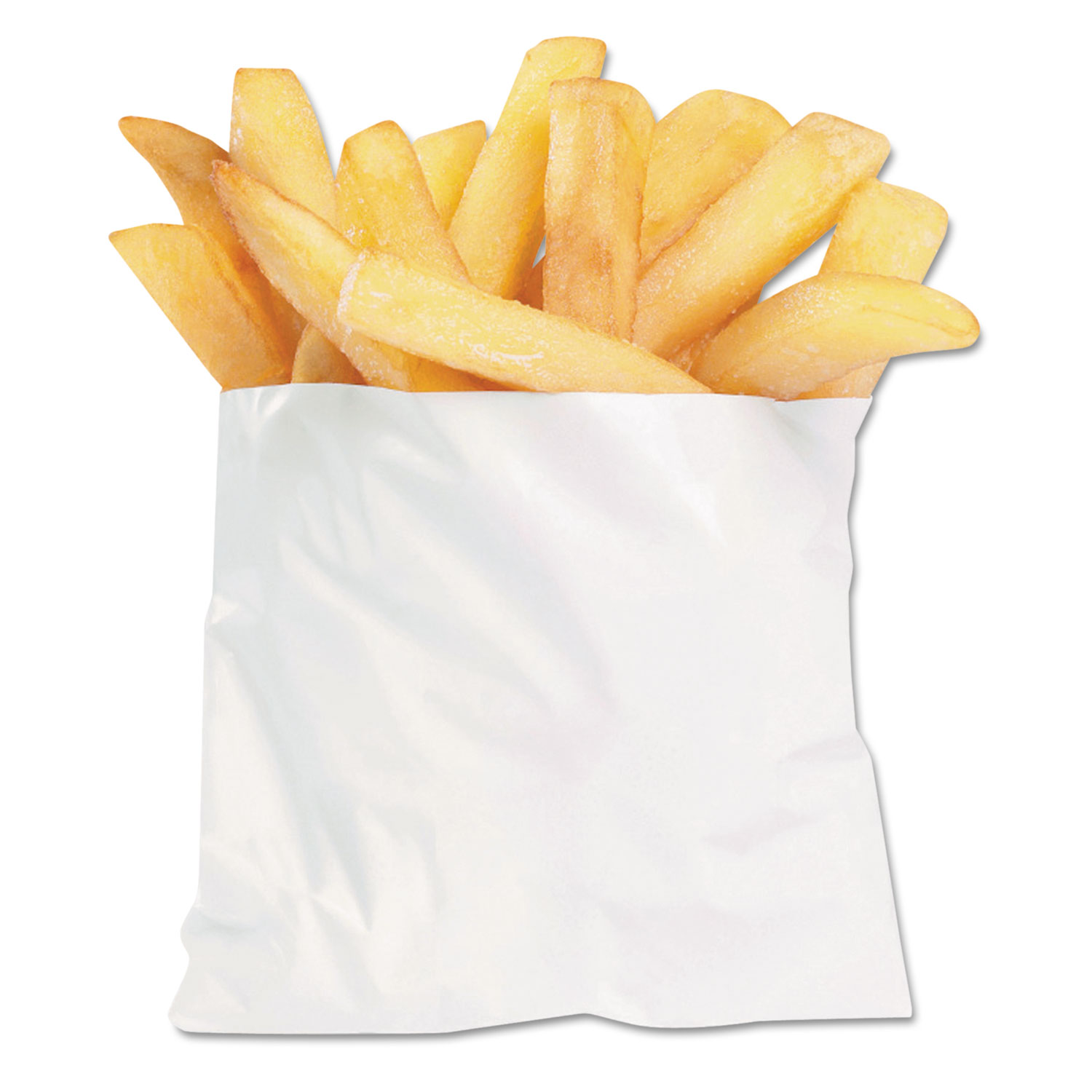 PB3 French Fry Bags, 4 1/2 x 2 x 3 1/2, White, 2000/Carton