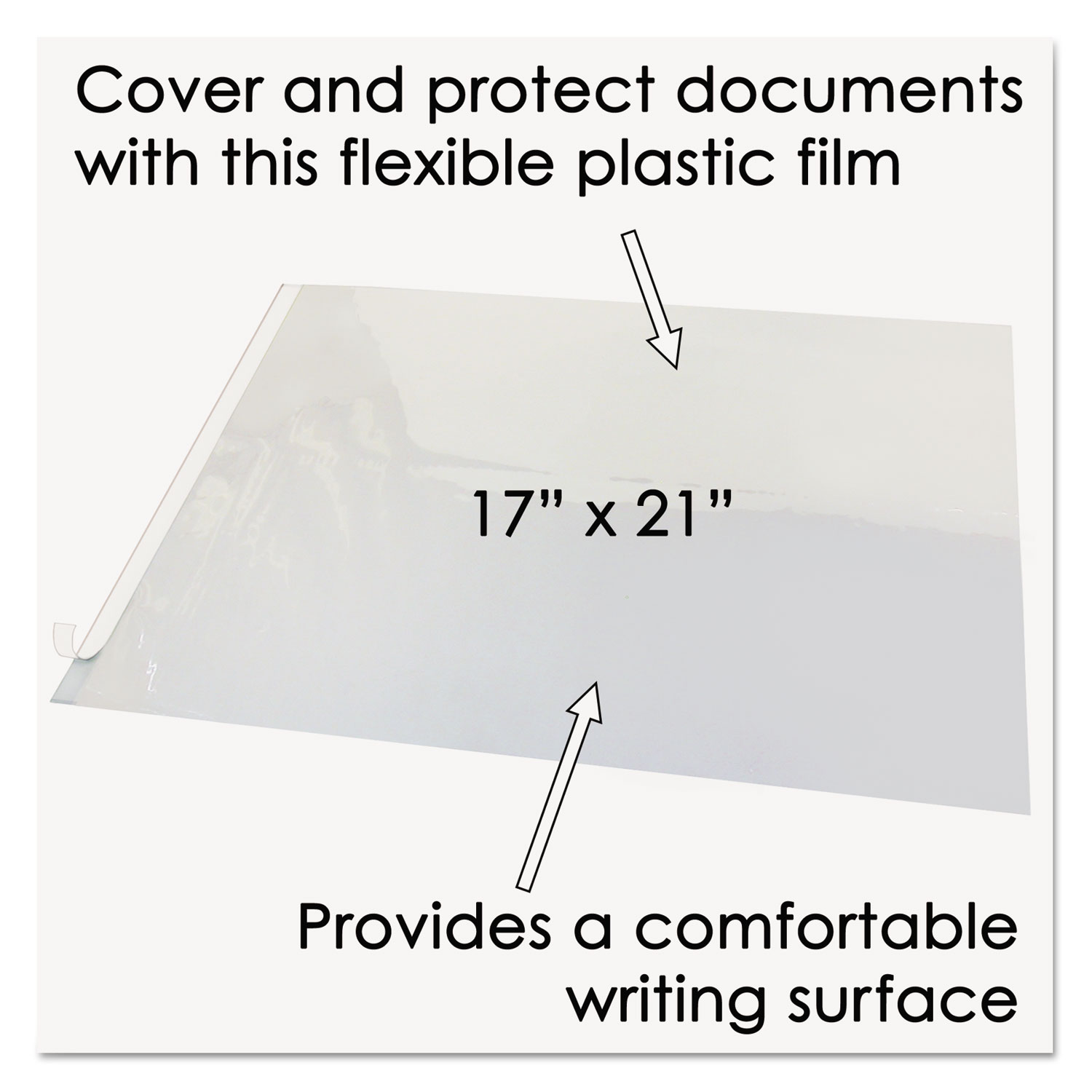 Second Sight Clear Plastic Hinged Desk Protector By