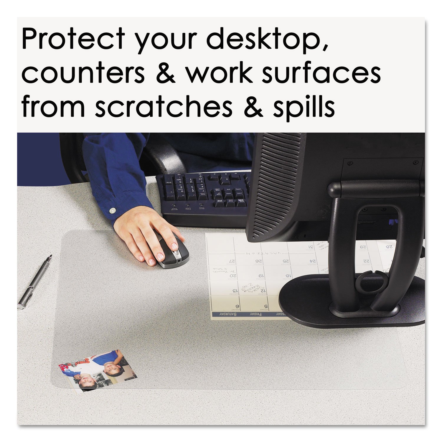 Krystalview Desk Pad With Microban By Artistic 174 Aop60240ms