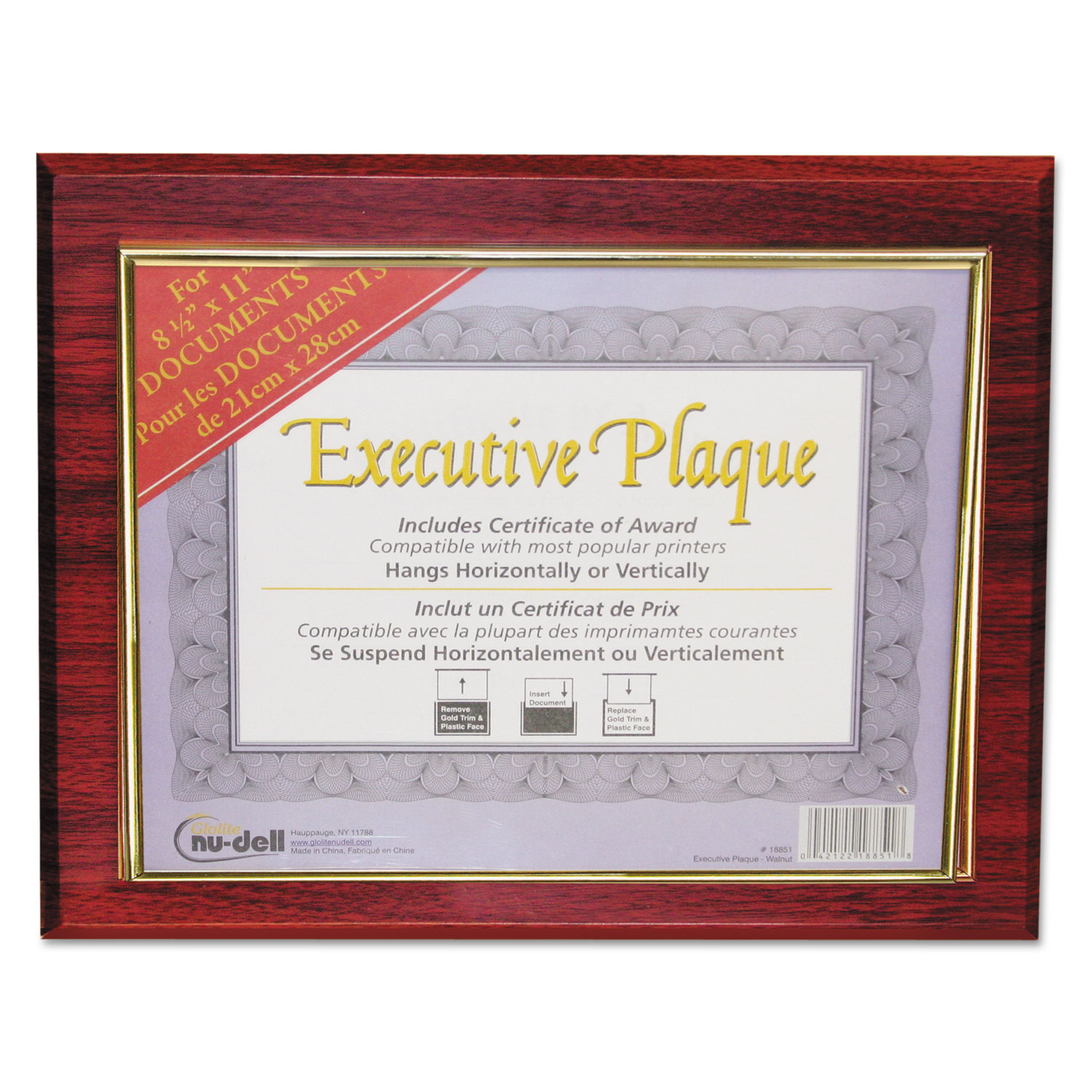 executive plaque by nudell nud18853m. Black Bedroom Furniture Sets. Home Design Ideas