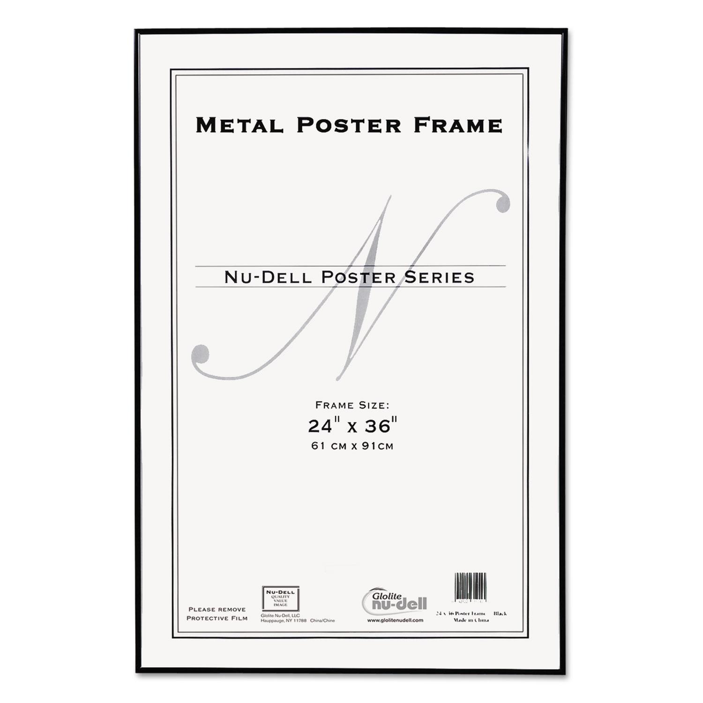 Metal Poster Frame, Plastic Face, 24 x 36, Black