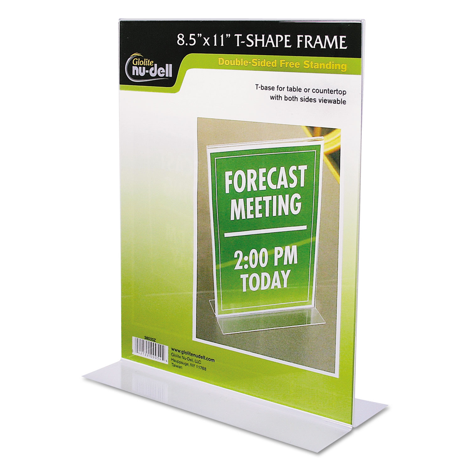 Clear Plastic Sign Holder, Stand-Up, 8 1/2 x 11