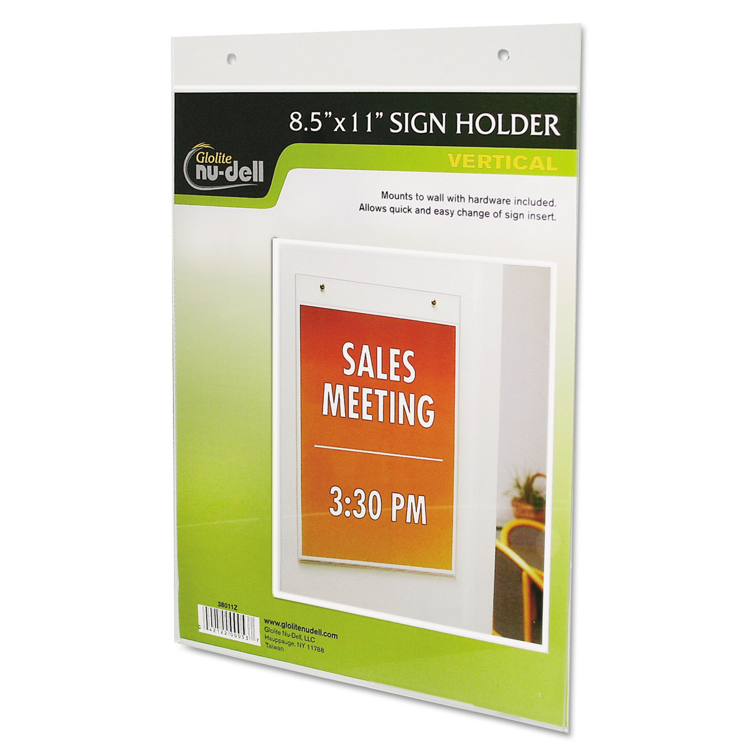 Clear Plastic Sign Holder By Nudell Nud38011z