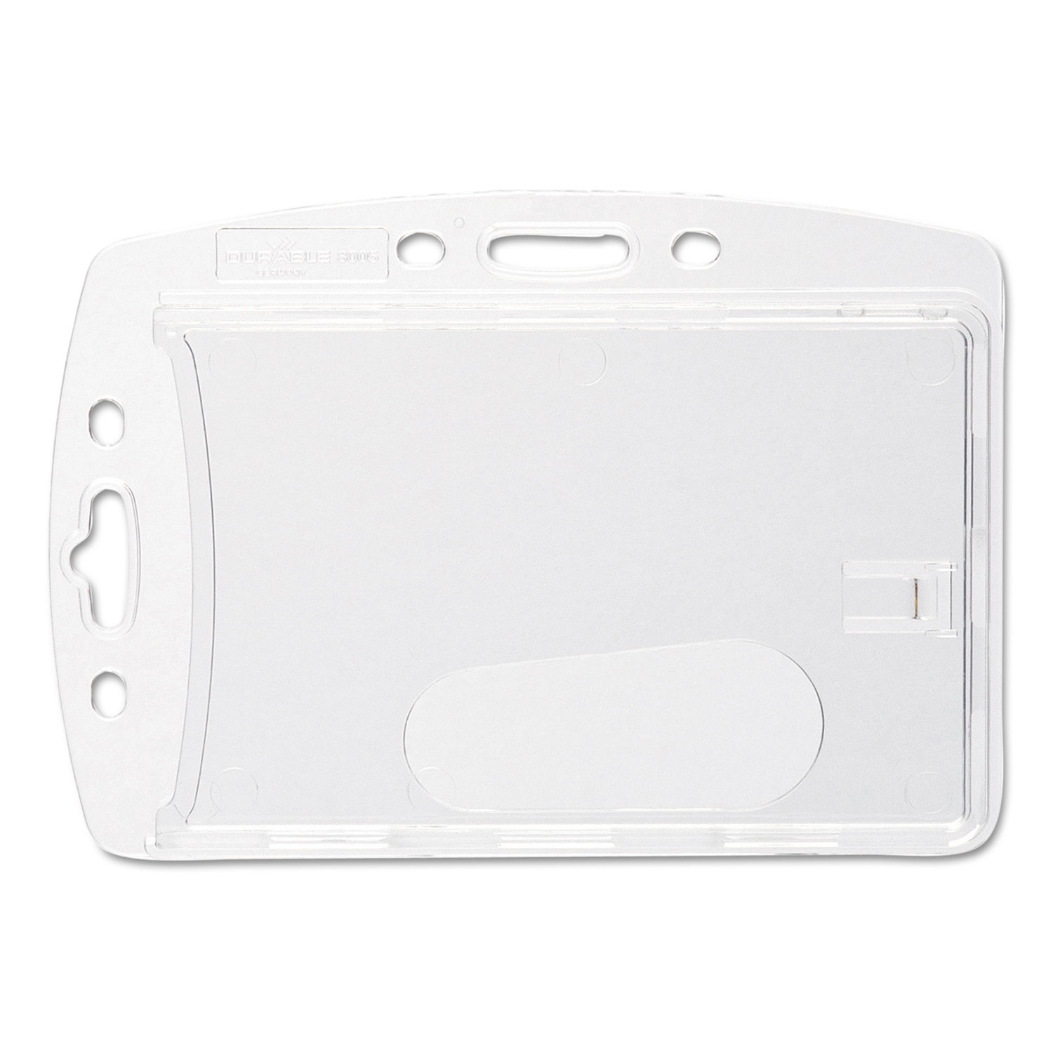 Replacement Card Holder, Vertical/Horizontal, Polystyrene, 10/Pack DBL890519