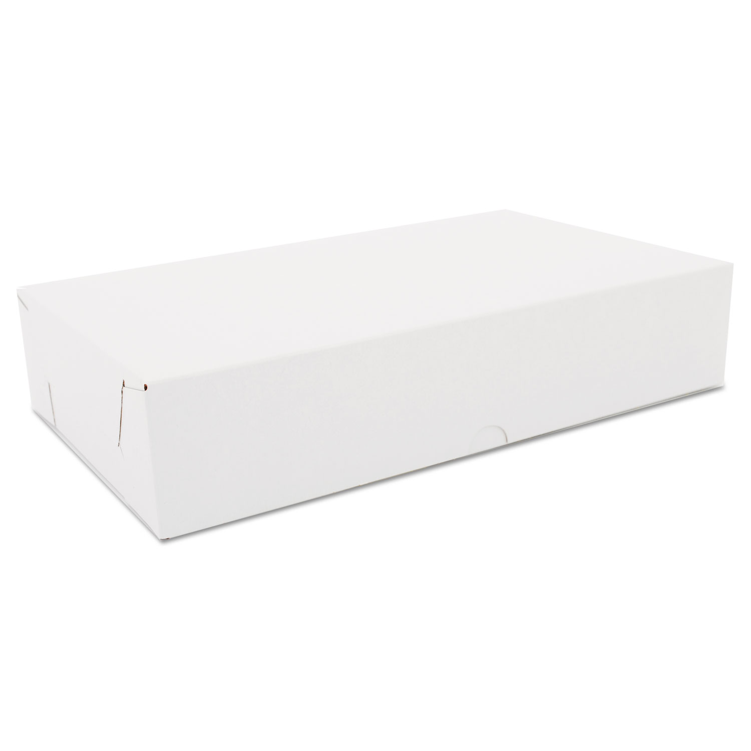 Two-Piece Sausage & Meat-Patty Boxes, Paperboard, 12x7x2 1/2, White, 100/CT