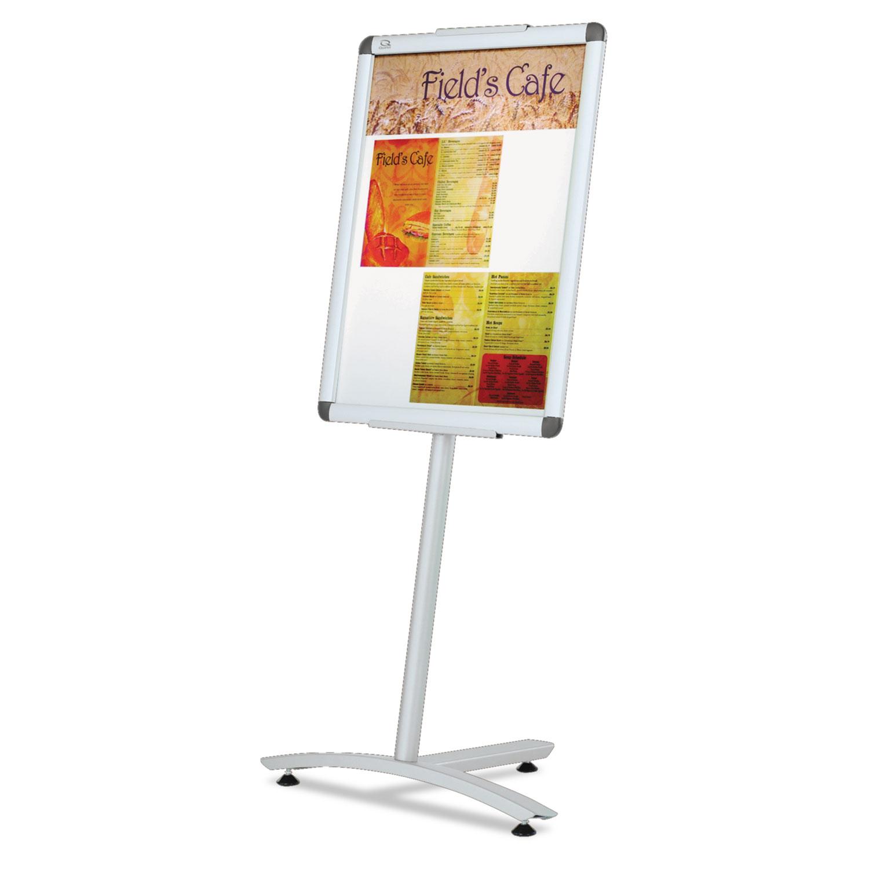 Clip-Frame Pedestal Sign by Quartet® QRTLCF2418 - OnTimeSupplies.com