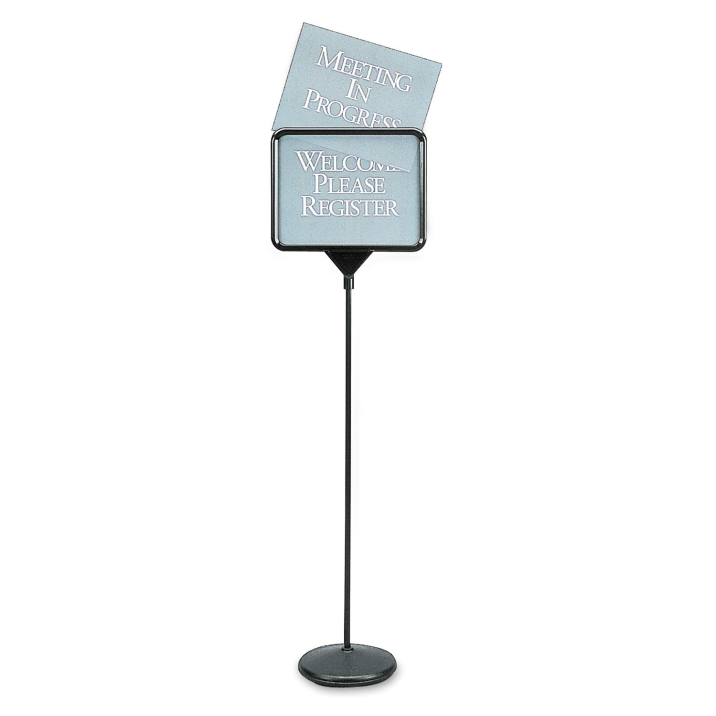 Sign(ware) Pedestal Sign, 14 x 11, Assorted Signage, Black Frame
