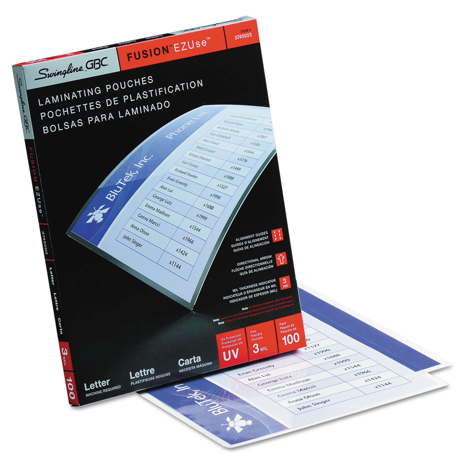 Ezuse Thermal Laminating Pouches By Swingline 174 Gbc