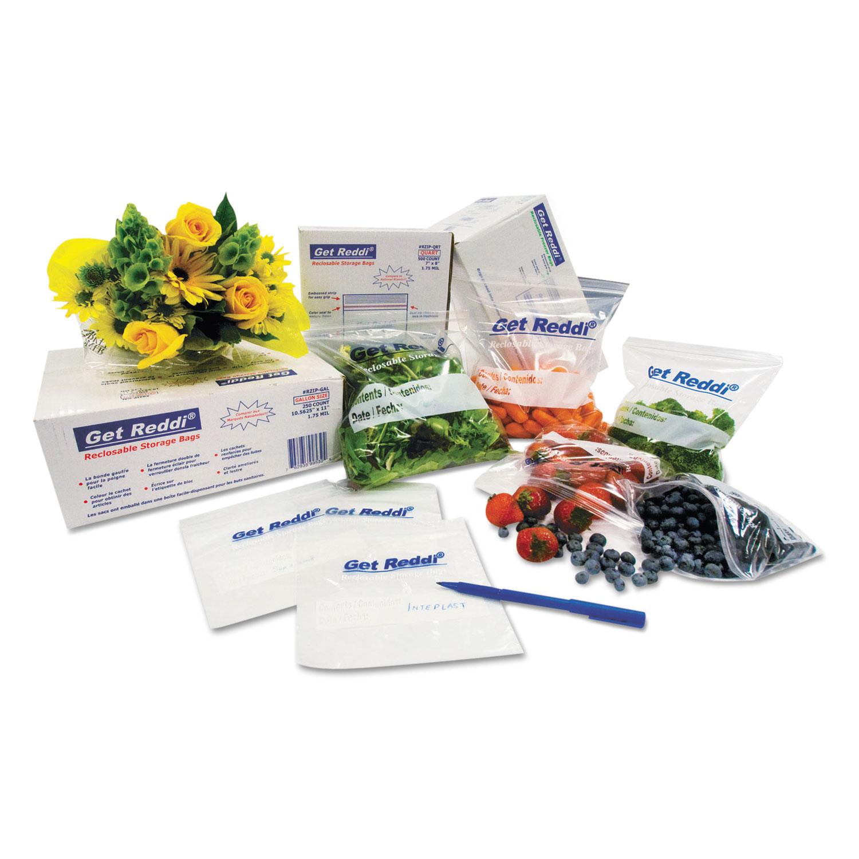 """Food Bags, 24 qt, 1 mil, 12"""" x 30"""", Clear, 500/Carton"""