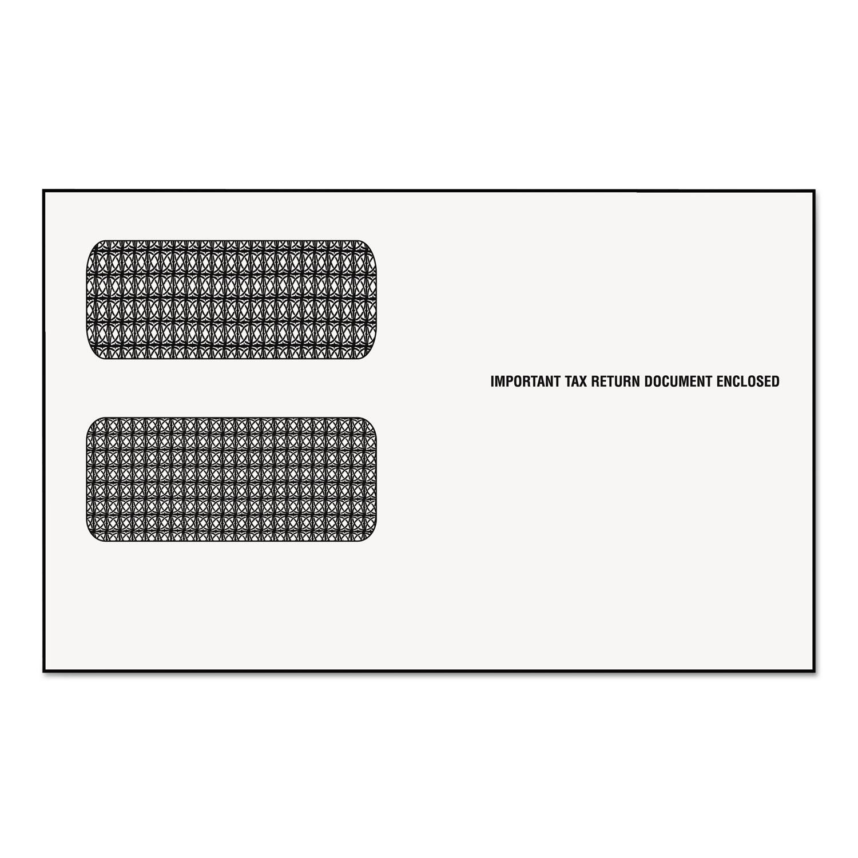 1099 Double Window Envelope, Commercial Flap, Gummed Closure, 5.63 x 9, White, 24/Pack