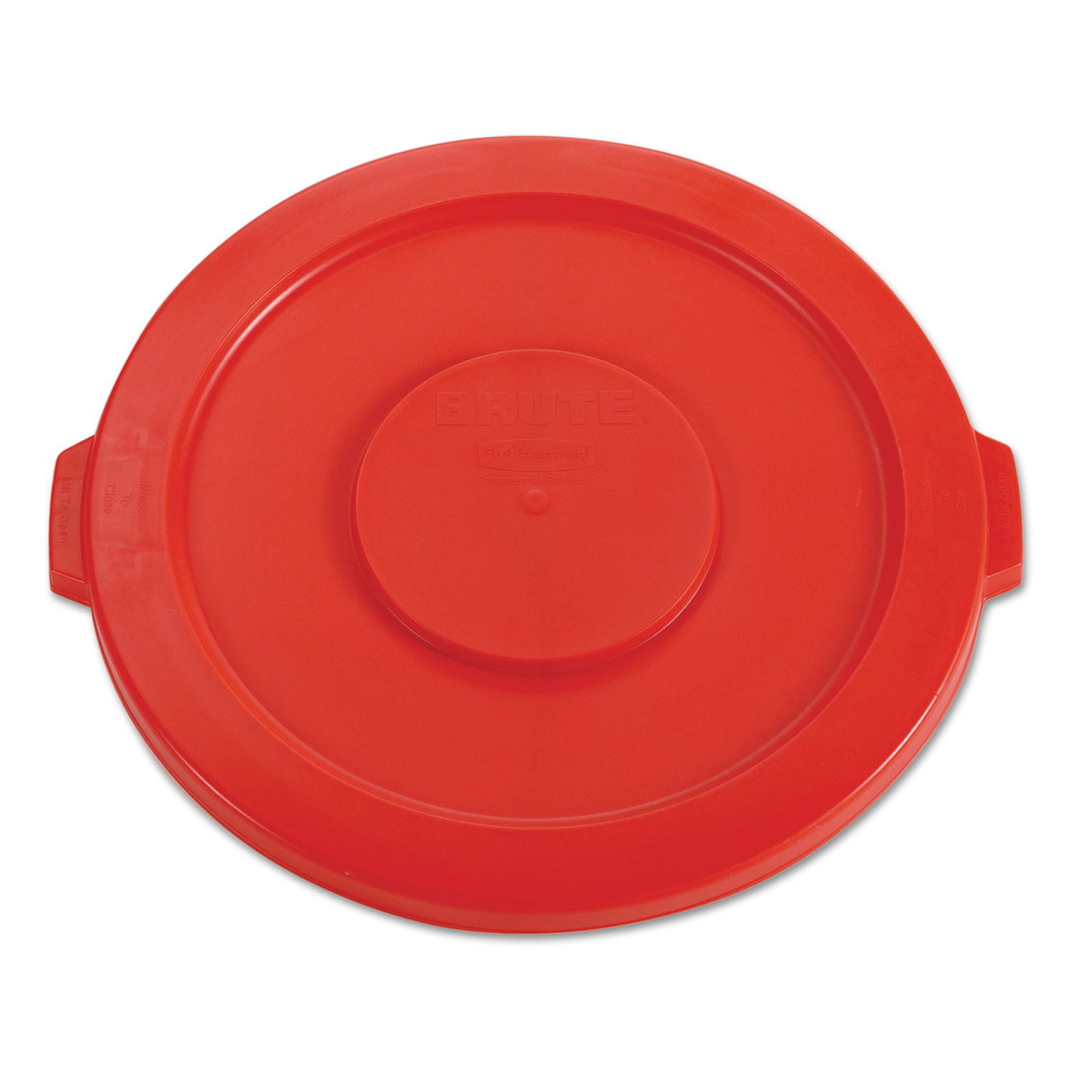 6c161c9aa00 Round Flat Top Lid by Rubbermaid® Commercial RCP2631RED ...