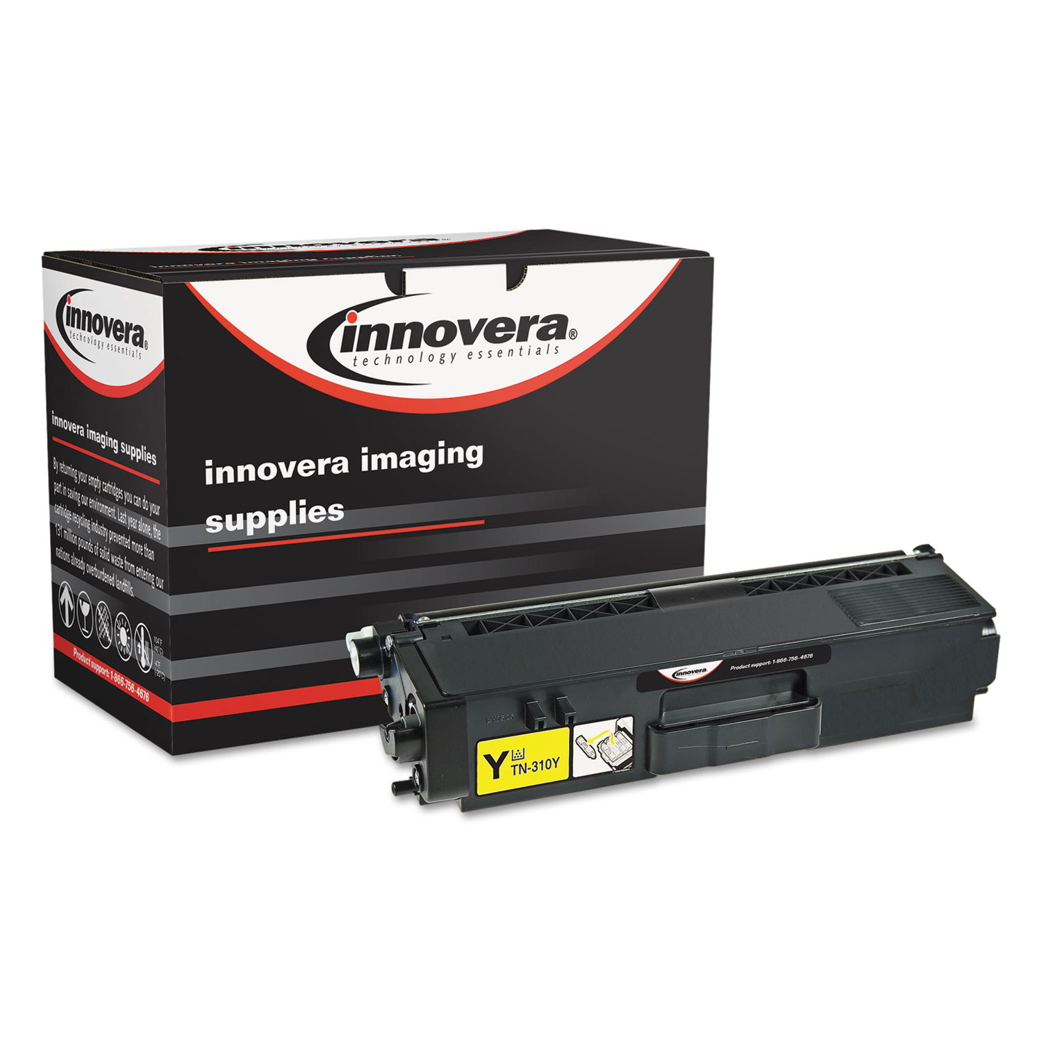 Remanufactured TN310Y Toner, 1500 Page-Yield, Yellow