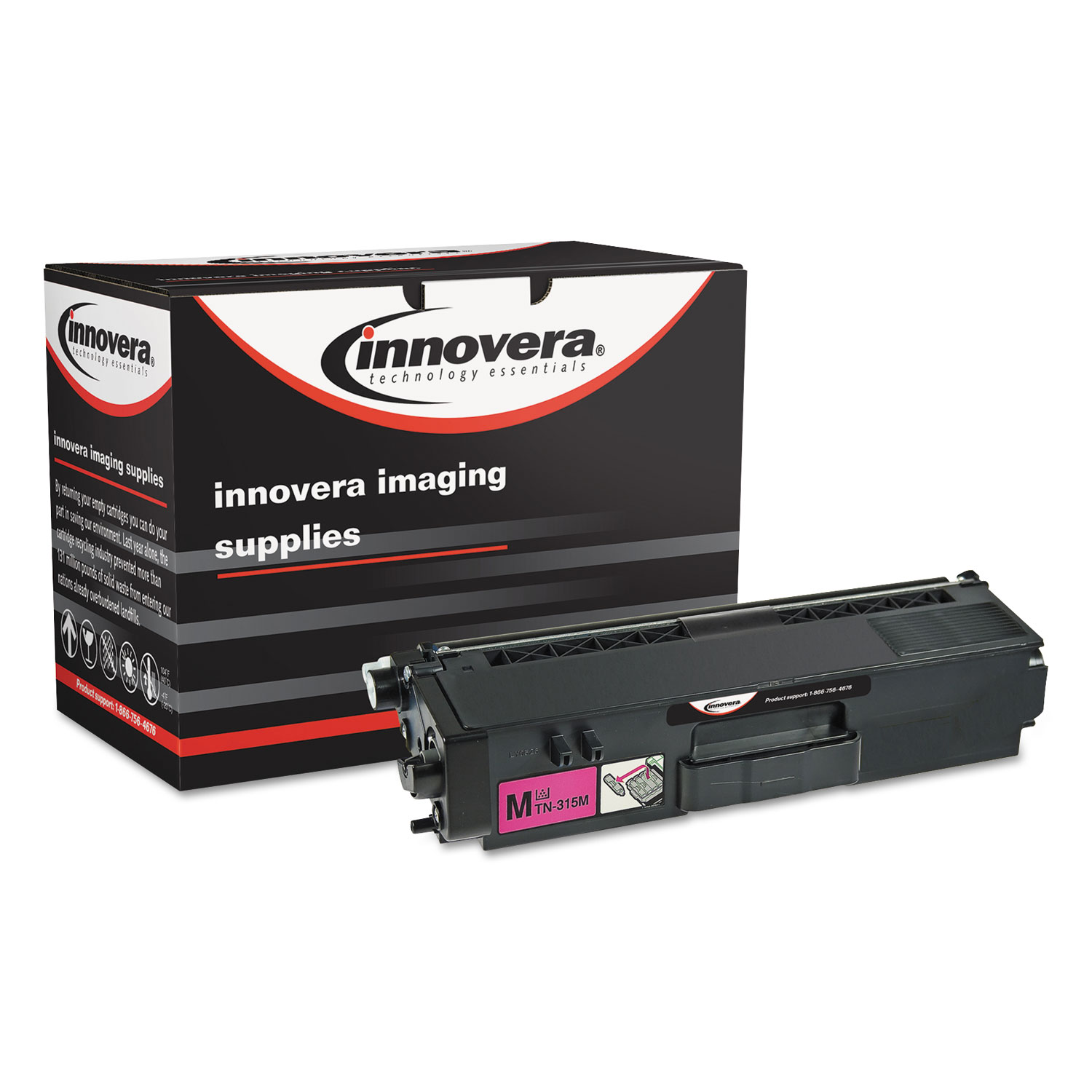 Remanufactured TN310M Toner, 1500 Page-Yield, Magenta